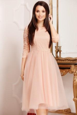 Rochie roz eleganta tip baby doll