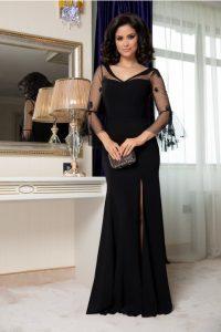 Rochie neagra lunga eleganta