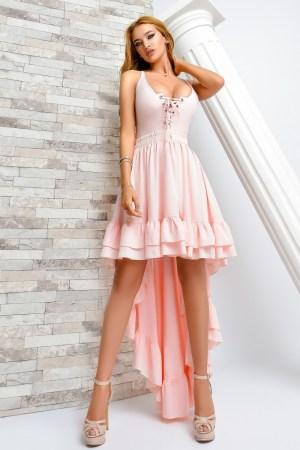 Rochie de ocazie eleganta tip baby doll asimetrica