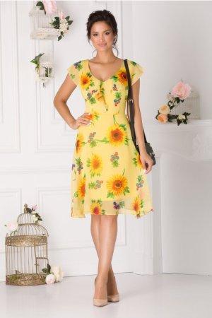 Rochie de zi scurta cu imprimeu floral