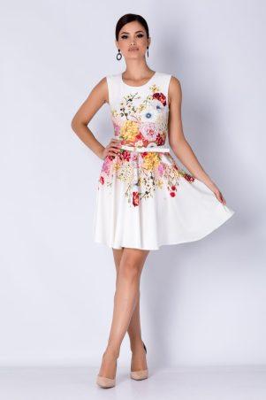 Rochie de zi tip baby doll cu imprimeu floral