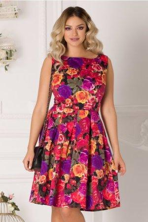 Rochie eleganta de zi cu imprimeu floral