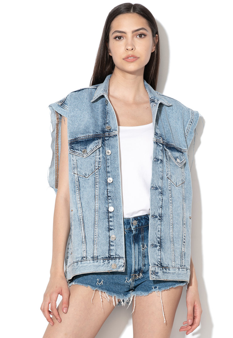 Geaca din denim oversized