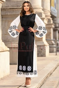 Rochie de ocazie eleganta cu motive traditionale