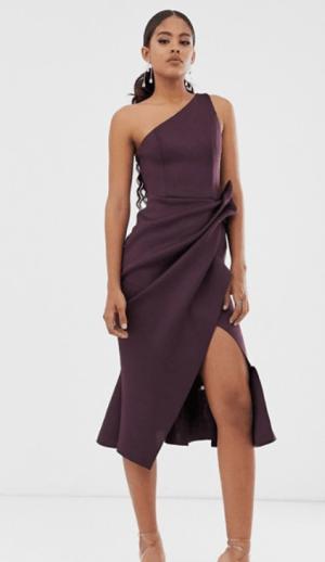 Rochie de seara eleganta cu plepum tip creion Asos