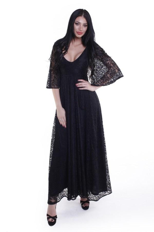 Rochie de seara lunga eleganta cu maneci clopot