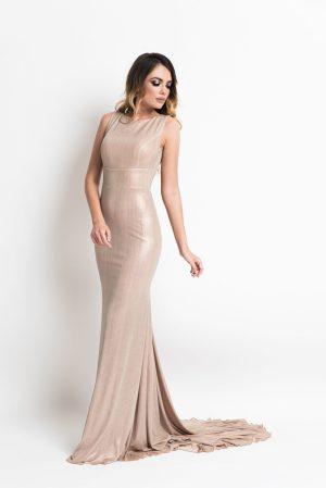 Rochie de seara lunga eleganta tip sirena cu trena