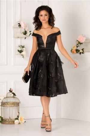 Rochie de seara si de ocazie scurta eleganta din organza