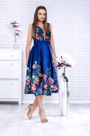 Rochie eleganta de seara din tafta cu corset