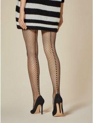 Ciorapi de femei tip plasa mica cu dunga in partea din spate