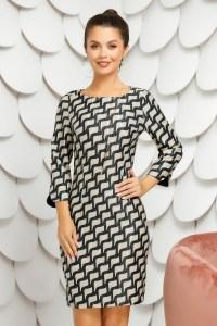 Rochie eleganta de zi cu imprimeu geometric
