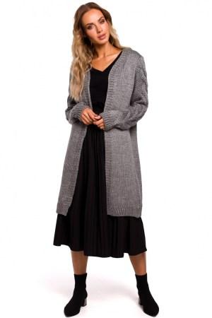 Cardigan lung gri dressy