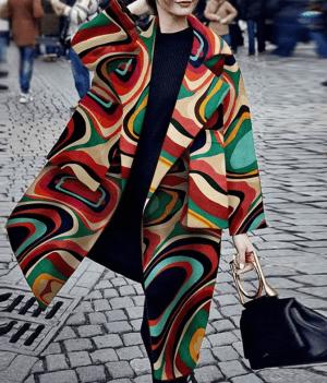 Palton dama colorat oversized