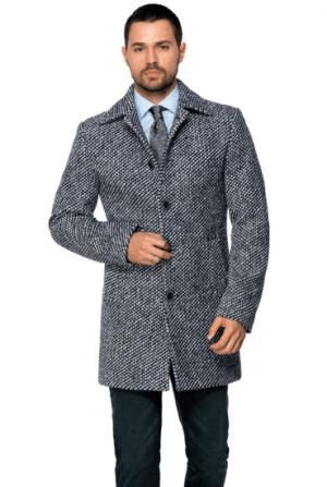 Palton barbatesc albastru office office din lana cotta
