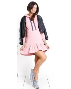 Rochie de zi roz prafuit pentru gravide