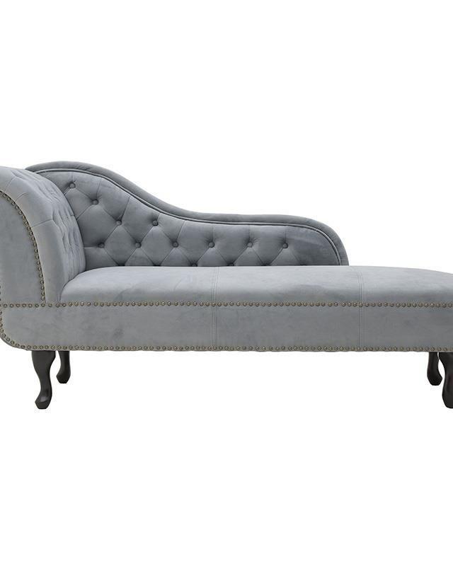 Canapea catifea gri Francoise