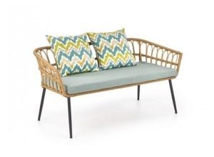 Canapea fixa din ratan cu picioare metalice 2 locuri Gardena