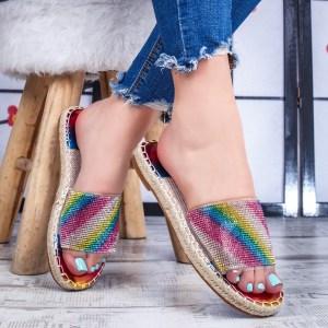 Papuci dama multicolori Martia -rl