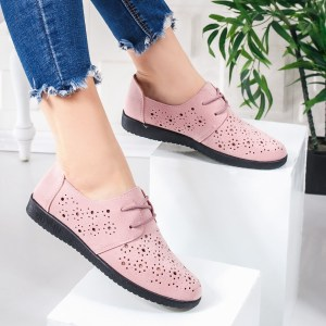 Pantofi casual dama roz pal Miralia