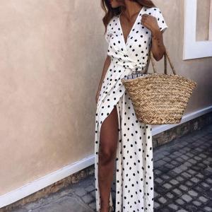 Rochie pentru primăvară vară cu buline