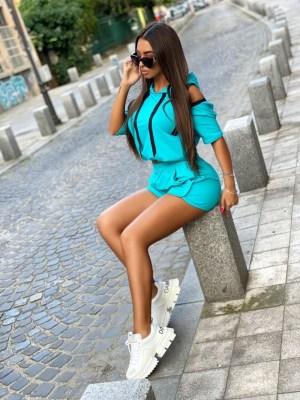 Compleu dama sport turcoaz Foggi