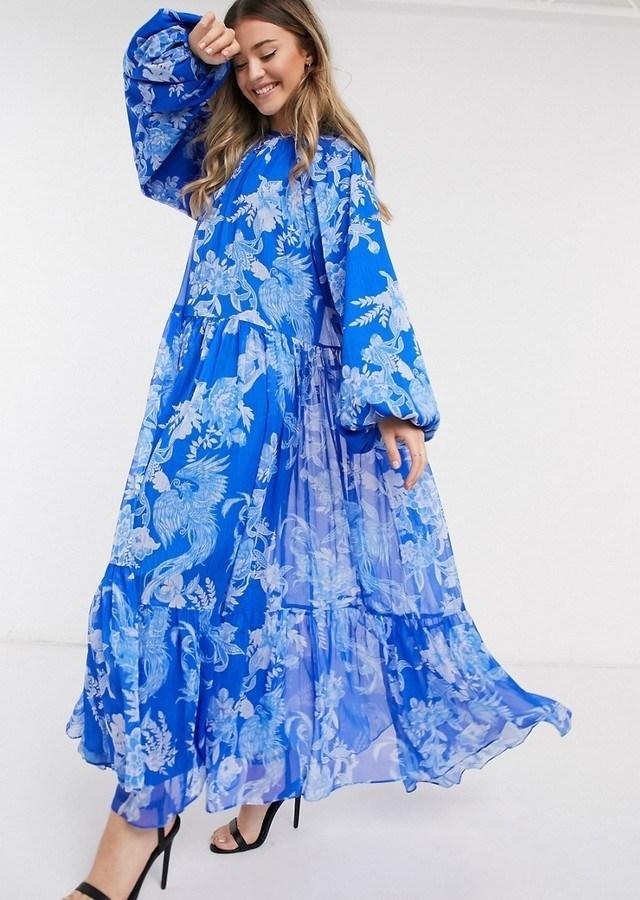 Rochie midi eleganta oversized cu imprimeu floral