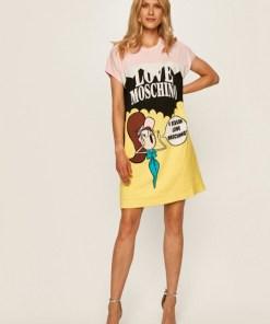Rochie de zi cu imprimeu desene Love Moschino