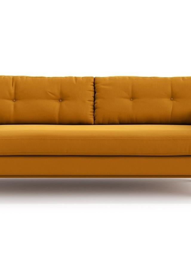 Canapea extensibila 3 locuri Esme Riviera Yellow Vivre