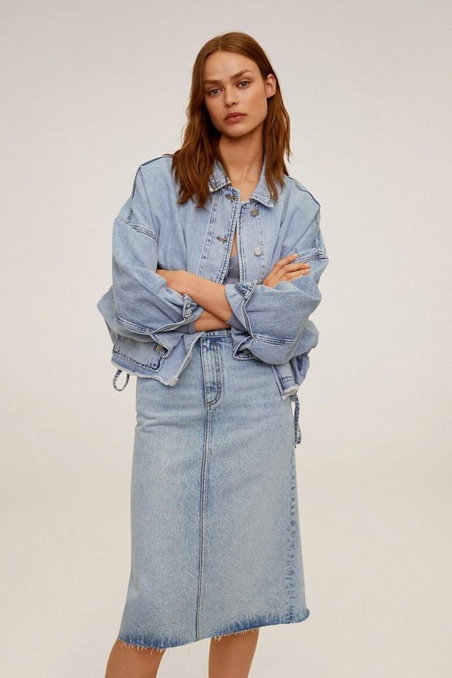 Mango - Fusta jeans Valeria