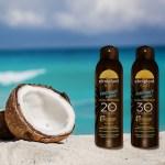 O oază de prospețime și hidratare pe pielea ta cu noile uleiuri spray protectoare elmiplant Coconut Oasis
