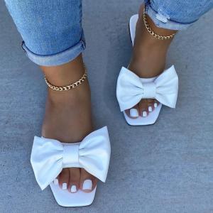 Papuci albi cu funda Neer