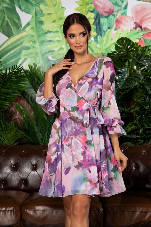 Rochie eleganta cu imprimeu