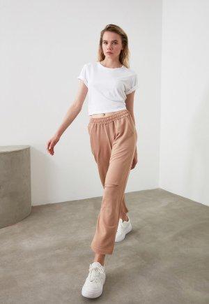 Pantaloni sport drepti cu aspect deteriorat