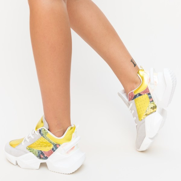 Pantofi Sport Vicent Galbeni