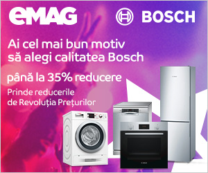 Reduceri la electrocasnice Bosch