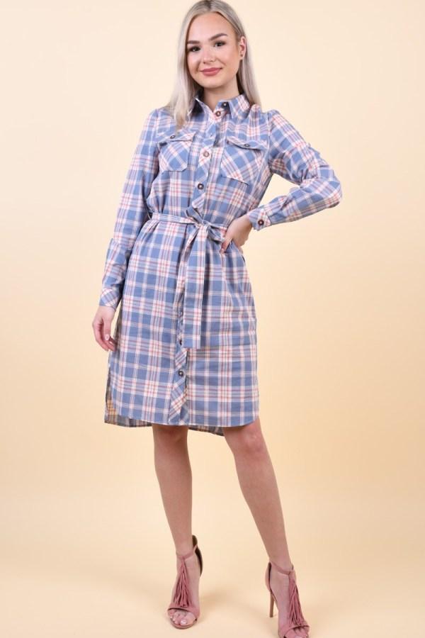 Rochie PIECES Fira Midi Dress Kentucky Blue