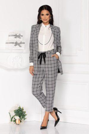 Pantaloni casual-eleganti cu croi lejer