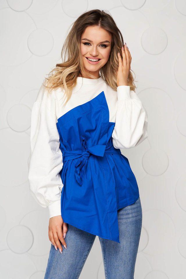 Bluza dama SunShine albastra din bumbac