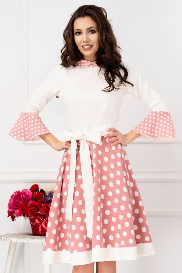 Rochie de zi delicata roz