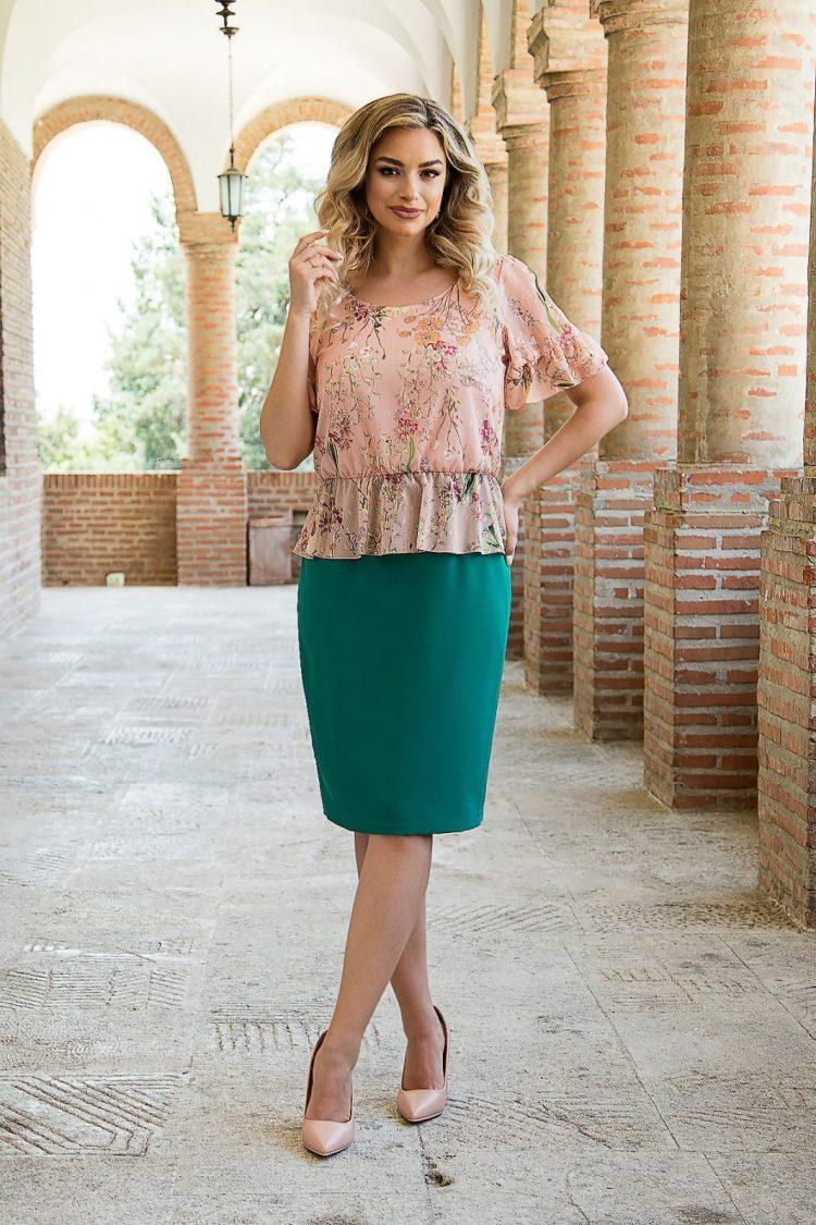 Rochie eleganta de zi de lungime medie