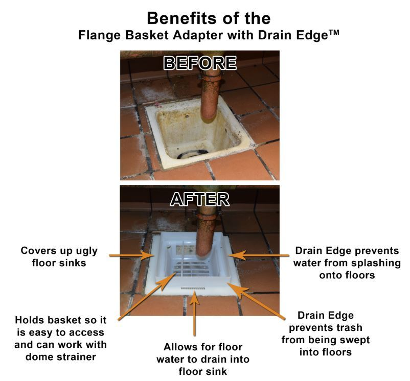 8 5 floor sink basket with 12 flange assembly drain edge