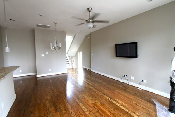 Wood Floor, lightening, ceiling fan