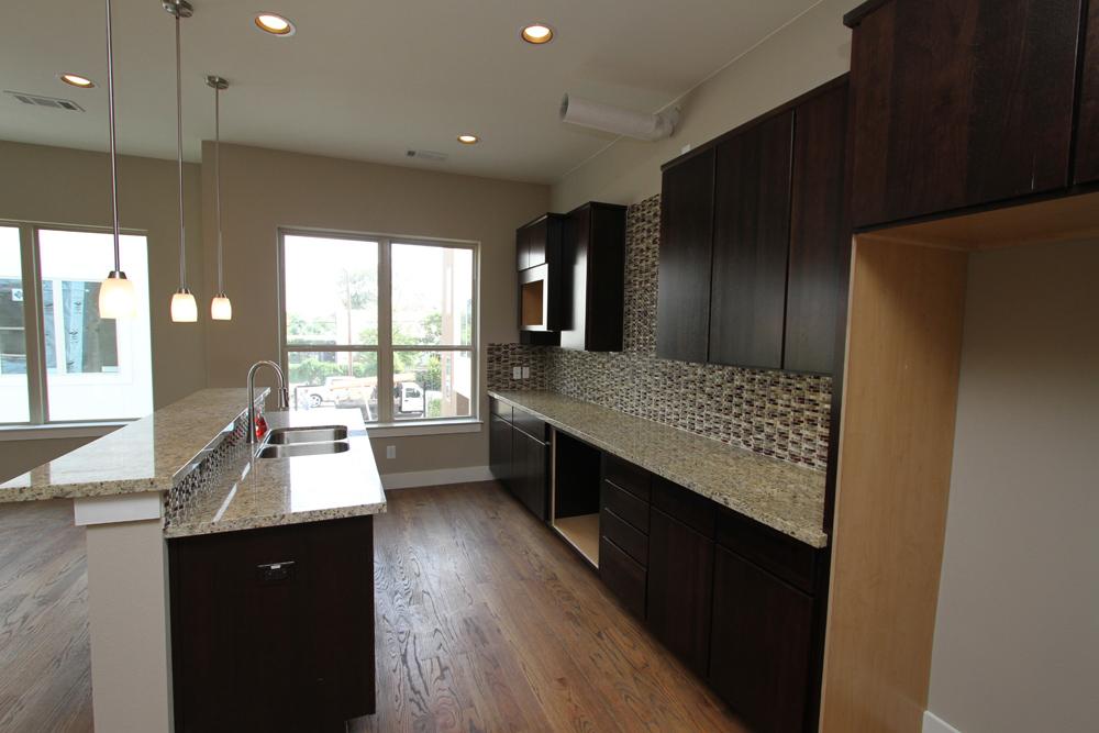Kitchen and wood floor