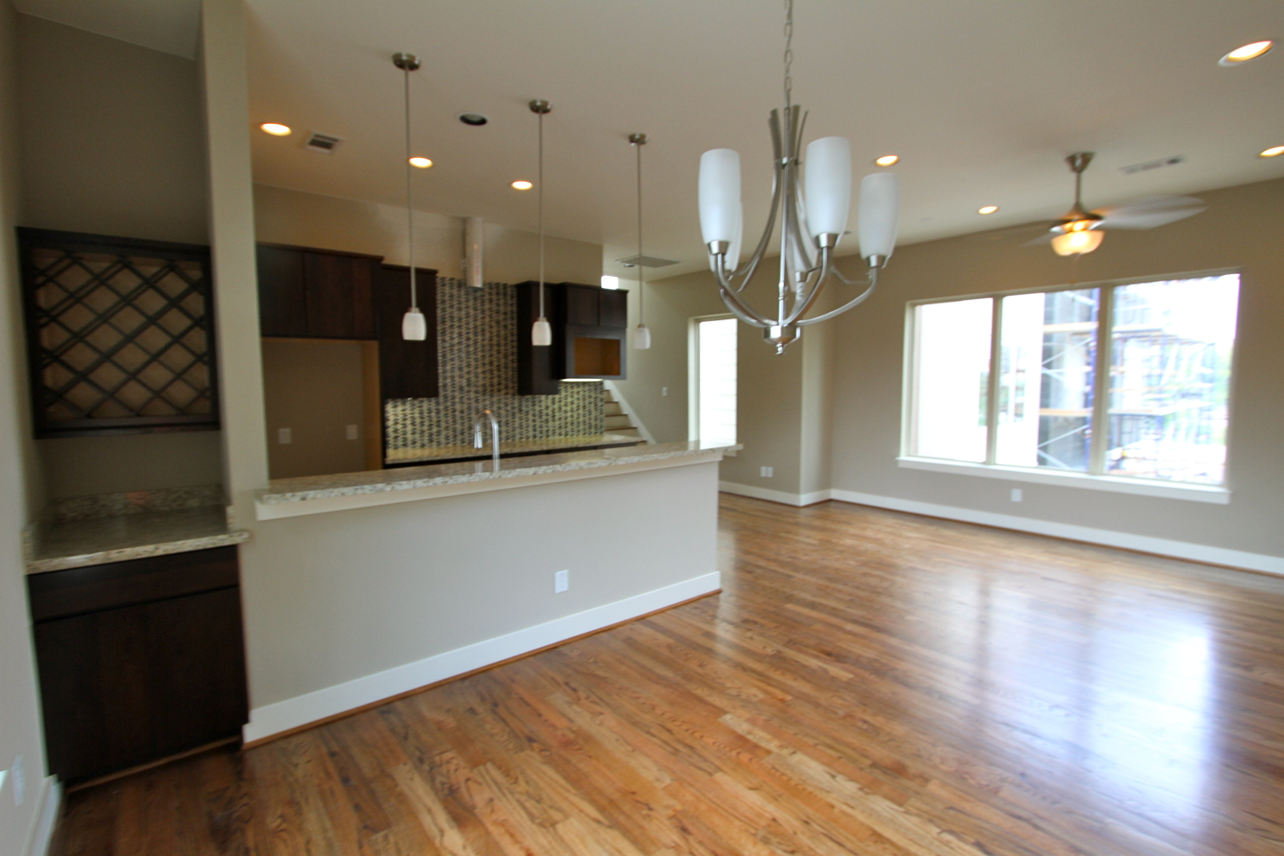 Kitchen - Wood Floor - Drake Homes Inc