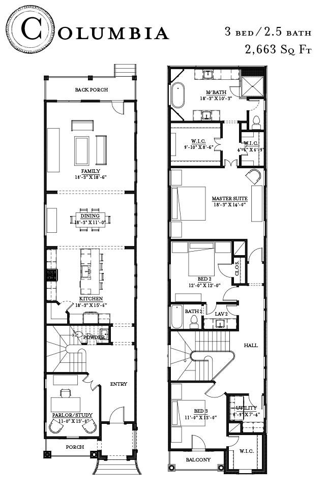 Columbia floorplan - Ashland Square