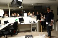 A tour of the newsroom of the National Journal.