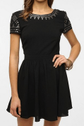 Staring at the Stars Crepe Studded Shoulder Dress at Urban Outfitters. $79