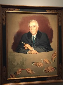 FDR, my favorite president, stoic in this painting by Douglas Chandor. Photo credit: Jack Feldman
