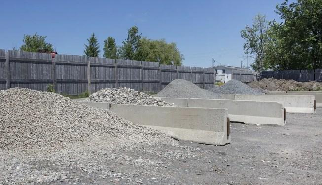 aggregates in bulk piles