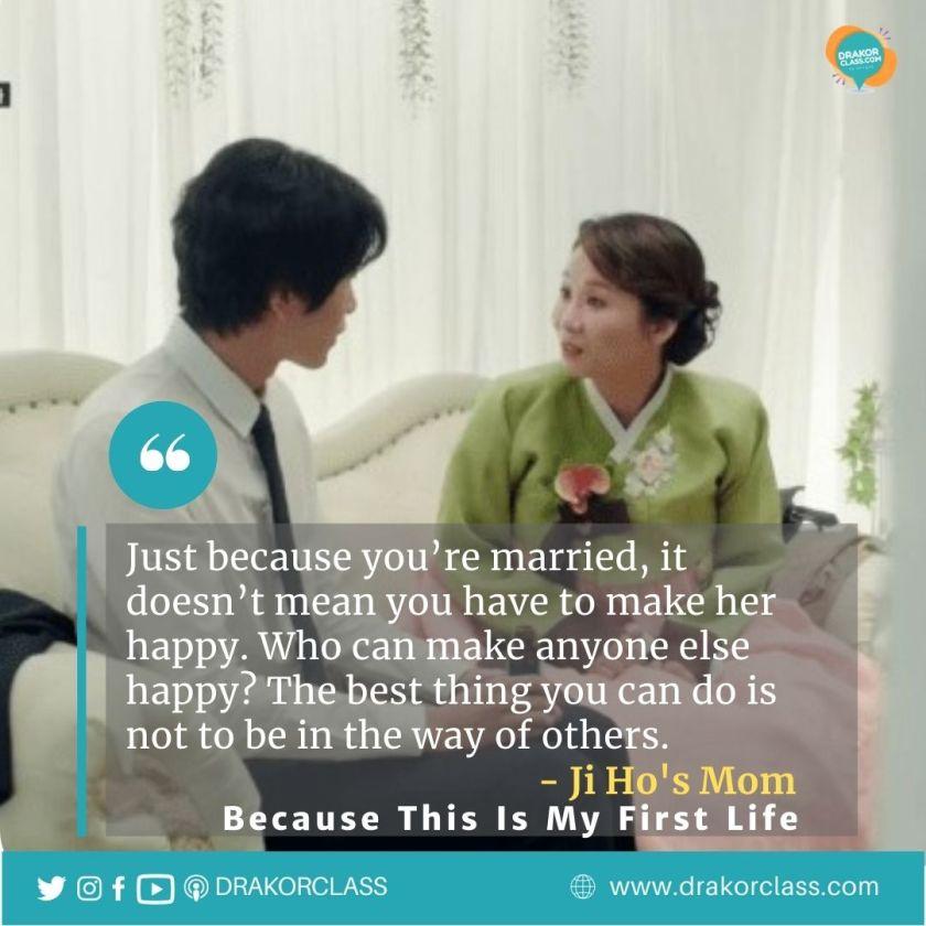 Nasihat ibu Ji Ho